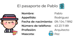 pasaporte de pablo